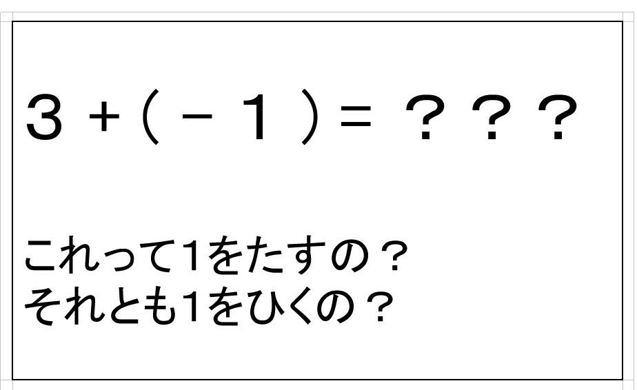 負の数をたす?(中1数学)